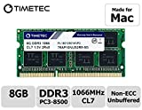 Timetec Hynix IC compatible with Apple 8GB DDR3 PC3-8500 1066MHz Memory Upgrade For iMac 20 inch /21.5 inch/24 inch /27 inch, MacBook Pro 13 inch/ 15 inch/ 17 inch, Mac mini 2009 2010 (8GB)