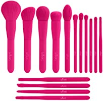 Makeup Brush, Colorful Makeup Brush Set, 15 Piece Premium Synthetic Christma Gift Make Up Brushes for Foundation Powder...