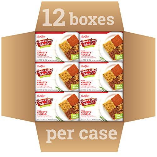 Kosher Parve Mre, Meal Mart Amazing Meals Ready to Eat, Variety Kugels (12 Pack) – Travel, Military, Emergency Survival Food – Prepared Fully Cooked, Microwave Dinner, Shelf Stable
