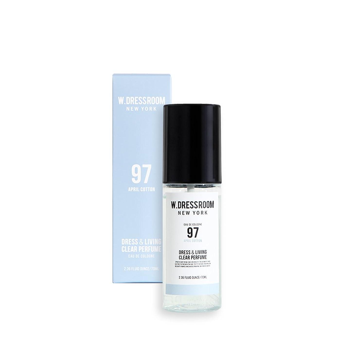 距離構築するアパートW.DRESSROOM Dress & Living Clear Perfume 70ml/ダブルドレスルーム ドレス&リビング クリア パフューム 70ml (#No.97 April Cotton) [並行輸入品]