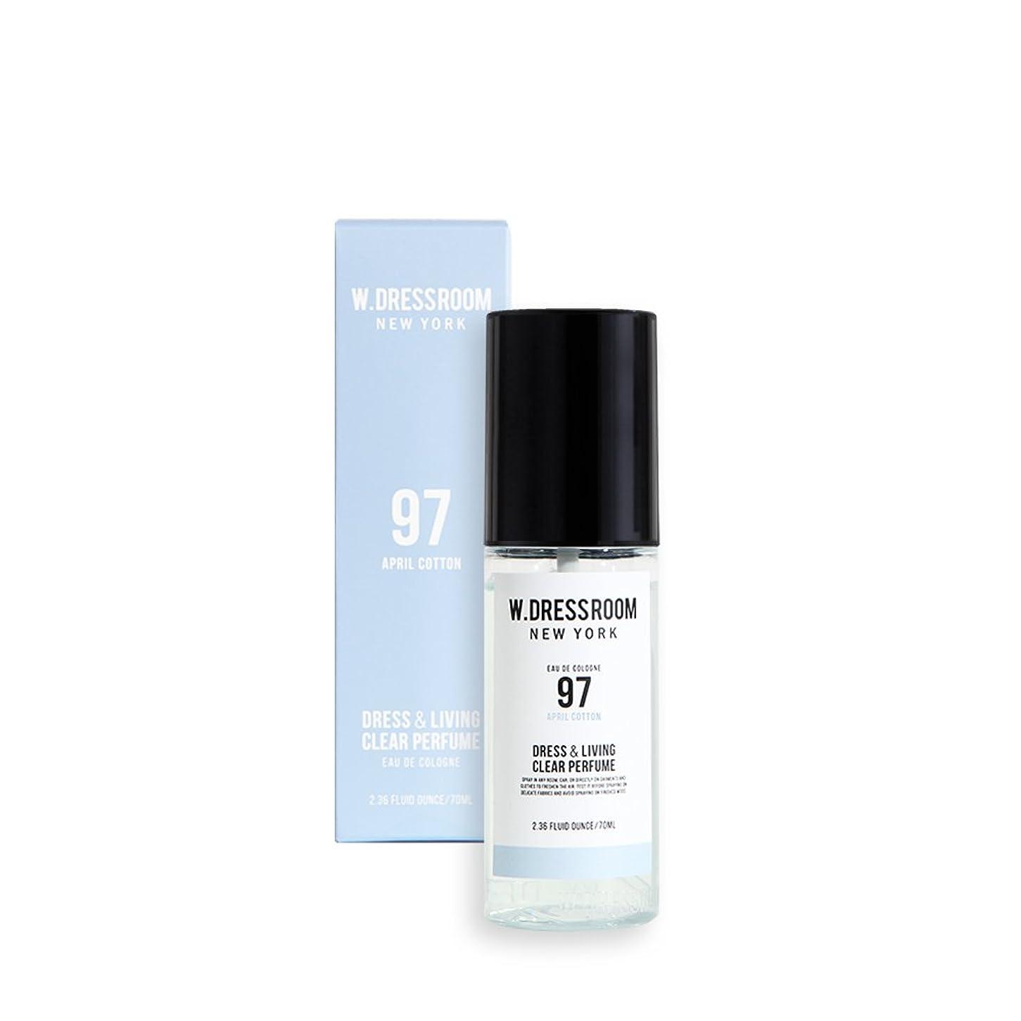 敵意スポーツをする配送W.DRESSROOM Dress & Living Clear Perfume 70ml/ダブルドレスルーム ドレス&リビング クリア パフューム 70ml (#No.97 April Cotton) [並行輸入品]