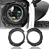 Hooke Road 7 in Headlight Mount Retaining Bracket Ring Replacement for Jeep Wrangler JK & Unlimited 2007-2018