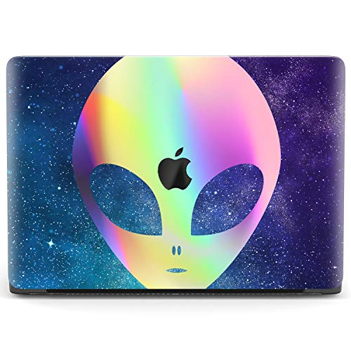 Mertak Hard Case Compatible with MacBook Pro 16 Air 13 inch Mac 15 Retina 12 11 2020 2019 2018 2017 Night Sky Alien Funny Laptop Protective Touch Bar Cute Plastic Cover Rainbow Print UFO Clear