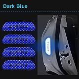 S&D 4Pcs / Set Cinta Adhesiva Abierta Para Automóviles Marca De Advertencia Aviso Abierto Reflectante Accesorios Para Bicicletas Pegatinas Exteriores Para Puertas De Automóviles Bricolaje, Azul