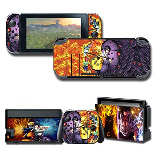 GilGames Vinyl Skin Decal Stickers for Nintendo Switch, Anime Protector Wrap Cover Protective Faceplate Full Set Console Dock