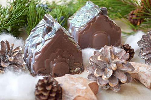 Schokolade Weihnachten Haus Seife Baby begünstigt Badezimmer Dekor Lebkuchen Geheimnis Santa Winter geformte Seifen Kinder Weihnachtsseife Weihnachtsmann Zimtseife