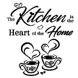 2pcs Pegatinas Vinilos de Pared Pegatinas Decorativas Adhesivas de Cocina Pegatinas Murales Decoración Hogar para Cocina Restaurante Cafetería Sala de Estar Wall Stickers