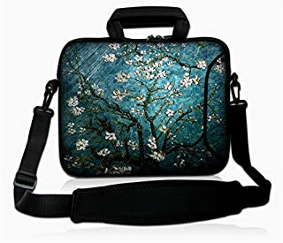 "eyscar 15.6-Inch Laptop Shoulder Bag Messenger Case Sleeve with Handle and Extra Pocket for 14"" 14.1"" 15"" 15.6 Inch MacBook/Ultrabook/HP/Acer/Asus/Dell/Lenovo/Thinkpad (Van Gogh)"