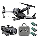 CUEYU 2020 Nouveau SG107 RC Drone Pliant, avec 4k WiFi FPV Caméra HD Quadcopter Altitude Hold,Batterie Lithium 3.7V 1200mAh (Triple Batterie)