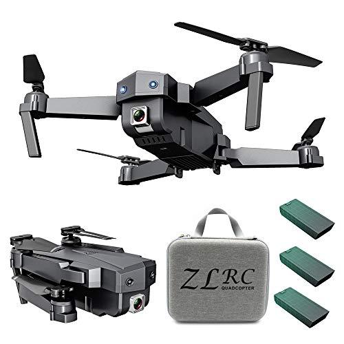 Hanomes Faltbare GPS Drohne mit 1080P HD, GPS Drohne mit GPS-Heimkehr und Gestensteuerung, Kreis fliegen, Follow-Me-Modus und WiFi Übertragung RC Drohne für Anfänger