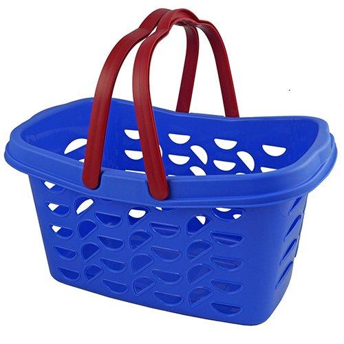 Gies Einkaufskorb Billy mit 2 klappbaren Henkeln, Plastik, blau, 47.5 x 30.5 x 24 cm