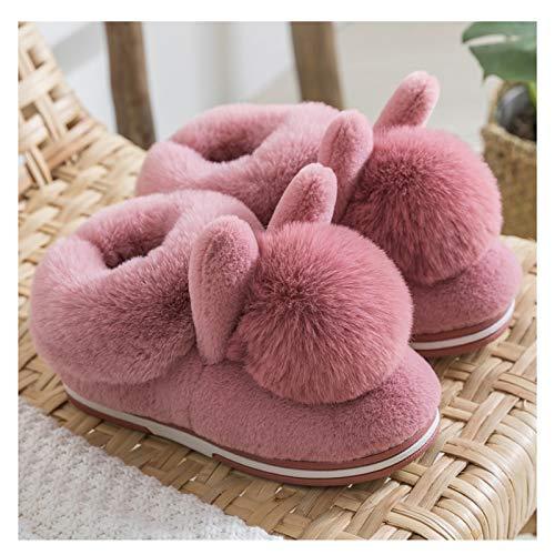 Zapatillas de Casa Zapatillas de algodón bolso de invierno for mujer con hogar zapatos de confinamiento de soledad gruesa felpa lindo grueso invierno zapatillas de invierno hogar Antideslizantes Zapat