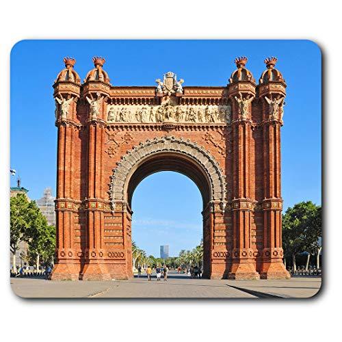 Estera cómoda del ratón - Arc de Triomf de Barcelona Arco de 23.5 x 19.6 cm (9.3 x 7.7 pulgadas) para la computadora y el ordenador portátil, oficina, regalo, base antideslizante - RM12196