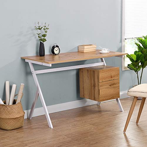 Cherry Tree Furniture SION Desk with Drawer & Cupboard (Oak)