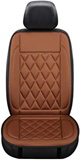 PsSpCo Car Heated Seat Cushion Universal Auto 12V Warmer Pad in Winter with Thermostat,Car Seat Cushion for Back Pain,Brown