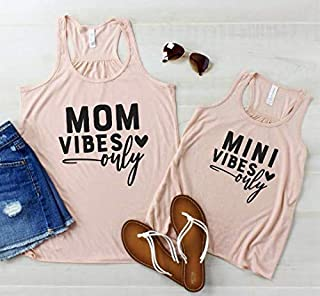 Mom Vibes Only Mini Vibes Only Mommy & Me Shirt Set Tank Top - Set of 2 Tanks