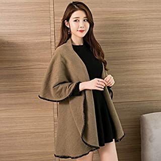 Winter Long Scarf Scarf Female Spring Wild Shawl Dual-use Autumn and Winter Women Thick Long air Conditioning Warm Super Large Cloak (Color : Khaki) Winter Soft Scarf (Color : Khaki)
