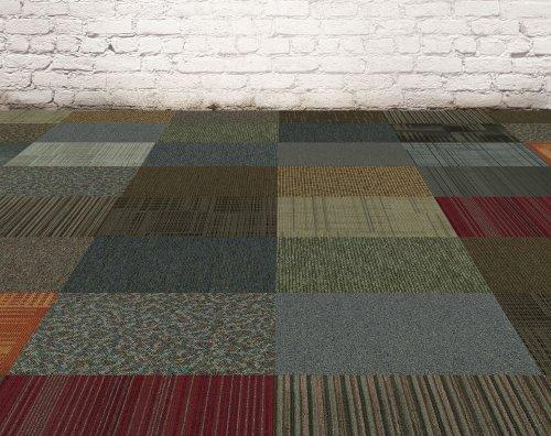 4URFloor Kaleidoscope 24'' x 24'' Carpet Tile in Assorted
