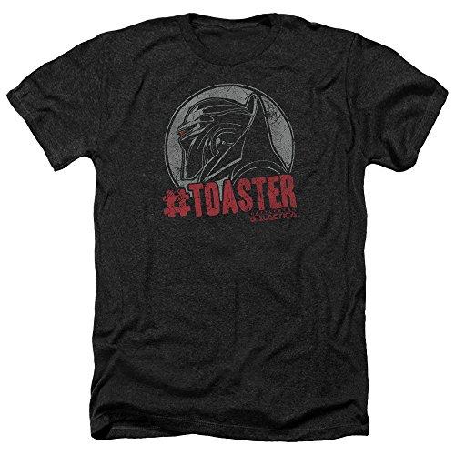Battlestar Galactica Männer #Toaster Heather T-Shirt, Large, Black