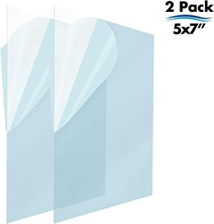 Icona Bay PET Plastic Replacement for Picture Frame Glass (5 x 7, 2 Pack) PET is The Ideal Replacement Glass Material to Avoid Shattering Glass