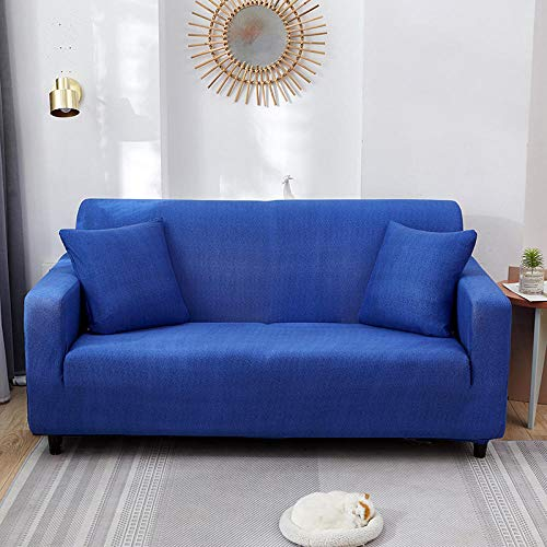 HXTSWGS Fundas de sofá de Alta Elasticidad,Living Room Sofa Cover, Stretch Sofa Cover, Chair and Stool Sofa Cover, Furniture Cover-Dark Blue_190-230cm