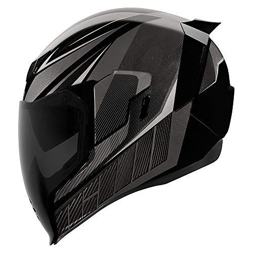 Icon Motorrad Airflite Helm QB1 schwarz NEUHEIT 2019, Größe: XL (61)