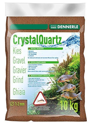 Dennerle Aquarienkies Rehbraun 10 kg - Bodengrund für Aquarien - Körnung 1-2 mm