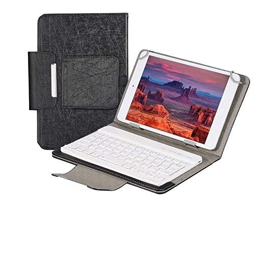 Eboxer 7 Pulgadas Funda Protectora de PU con Teclado Bluetooth Inalámbrico para Tableta con Soporte para iPad mini2 3. 4 / Galaxy Tab4 T230 / Huawei/etc.