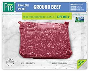 Pre, 95% Lean Ground Beef – Grass-Fed, Grass-Finished, and Pasture-Raised –16oz.