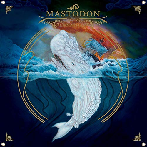 Astany Mastodon Leviathan-Flagge, 122 x 122 cm, großes Poster