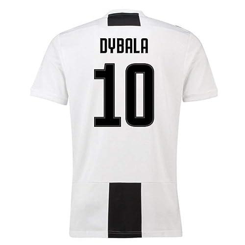 afa5dd01c JUJERS  10 Dybala Juventus Home Soccer Jersey 2018-2019 Season Mens  White Black