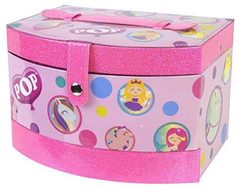 Pop Girl Beauty Vanity Case - Bolso, Maletín y Joyero 3 en 1 con Kit de Maquillaje - Set de Maquillaje para Niñas - Juguetes Niñas - Selección de Productos Seguros