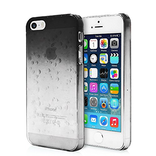 COOLKE iPhone 5 5S Custodia, Stylish Raindrop Design Custodia Hard Protecting Cover Strong Armor for Apple iPhone 5 5S