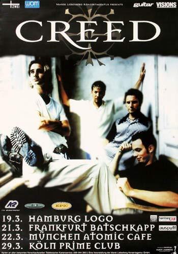 Creed (Scott Stapp) - Weathered Tour, Tour 2000 » Konzertplakat/Premium Poster   Live Konzert Veranstaltung   DIN A1 «
