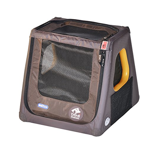SUPwave Tami - Hundetransportbox aufblasbar Tragebox Transportbox Hundebox Reisebox Autotransportbox Kofferraumbox Gitterbox Käfig Hund Box Dogbox Inflatable inkl. Dog-Vital Bio-Hundekeks (XS)