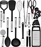 Home Hero Kitchen Utensil Set - 23 Nylon Cooking Utensils - Kitchen Utensils with Spatula - Kitchen Gadgets...