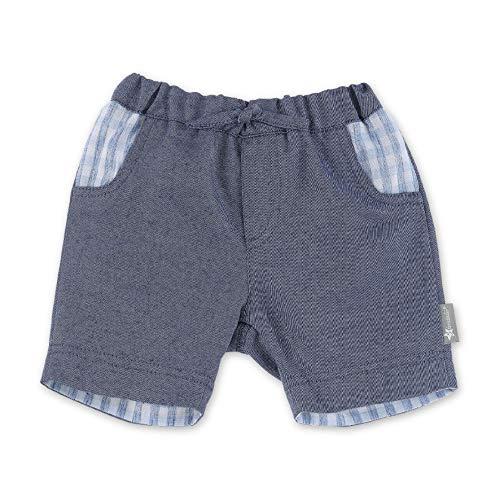 Sterntaler Baby-Jungen Hose kurz Shorts, Blau (Mittelblau 365), (Herstellergröße: 80)