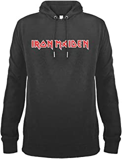 Amplified Clothing Iron Maiden 'Logo' (Slate) Pull Over Hoodie