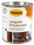 Pigrol Langzeit-Schutzlasur 0,75L mahagoni Holzlasur für alle Hölzer im Außenbereich