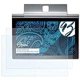 Bruni Schutzfolie kompatibel mit Lenovo Yoga Tablet 2 Pro 13.3 inch Folie, glasklare Bildschirmschutzfolie (2X)