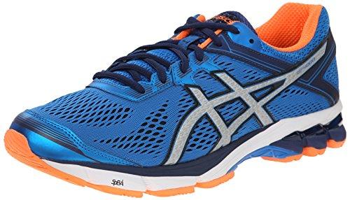 ASICS Men's GT 1000 4 Running Shoe, Electric Blue/Silver/Flash...