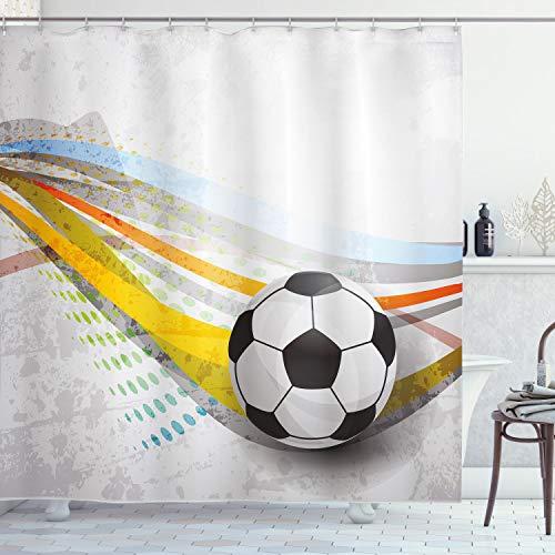 ABAKUHAUS Sala de Adolescentes Cortina de Baño, Líneas de fútbol de