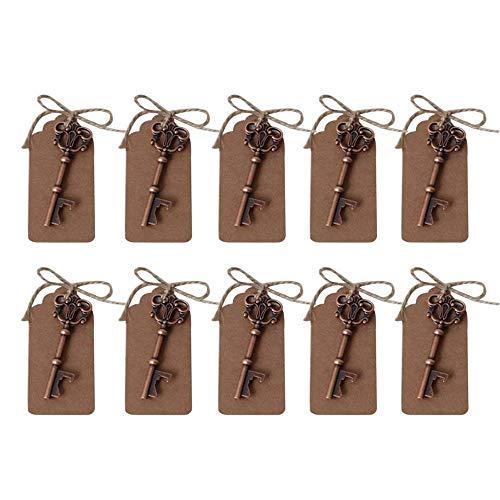 Awtlife 10apribottiglie vintage per bomboniere matrimonio rustico, decorazione di nozze, con etichetta regalo in carta kraft naturale, spago in iuta