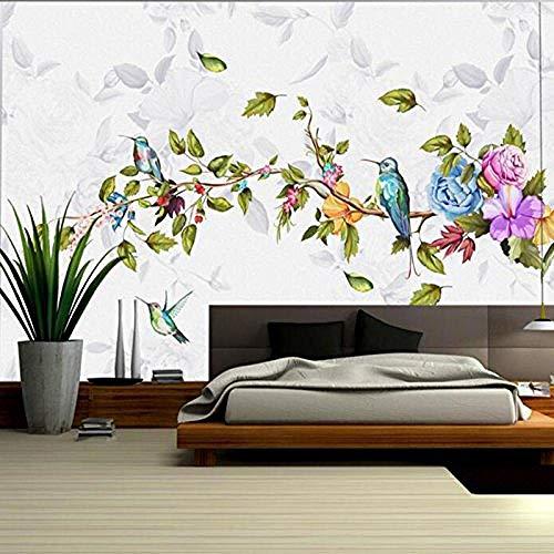 Baby behang vogel behang minimalistische met de hand beschilderd bloem muur schilderen woonkamer TV muur sticker meubels muur Ar aangepaste 3D behang plakken woonkamer de muur voor slaapkamer muurschildering 200 cm.