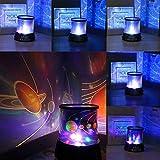 Lámpara Proyector Estrellas Luna, Lámpara de luz Nocturna LED Cielo Estrellado para niños, Bebés