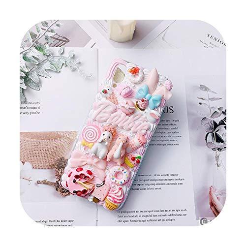 Schutzhülle für Samsung S20 (handgefertigt, niedliches Kaninchen, Handyhülle, Galaxy Note 10 Plus, Cartoon-Motiv, cremefarben, S8/9/10+, Note 5/8/9, für Galaxy S8 Plus