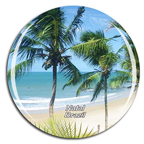 Weekino Brasil Ponta Negra Beach Natal Imán de Nevera 3D de Cristal de la Ciudad de Viaje Recuerdo Colección de Regalo Fuerte Etiqueta Engomada refrigerador