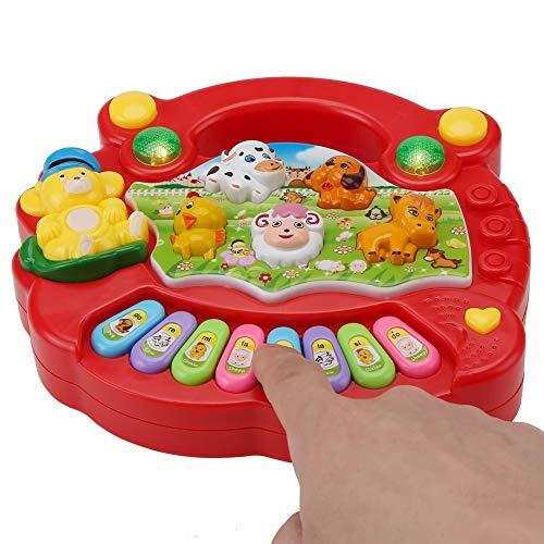 Musical Piano Toy Animal Farm Educational Learning Instrumentos Divertidos para Bebés y Niños Pequeños Socialme-EU(Rojo)
