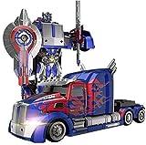 Mopoq Camión D Optimuus primer RC juguete transformable robot remoto Control360 juguete 11 años de edad fiesta de cumpleaños de robot Camión velocidad de deriva Modelo ABS transformador Stunt Car