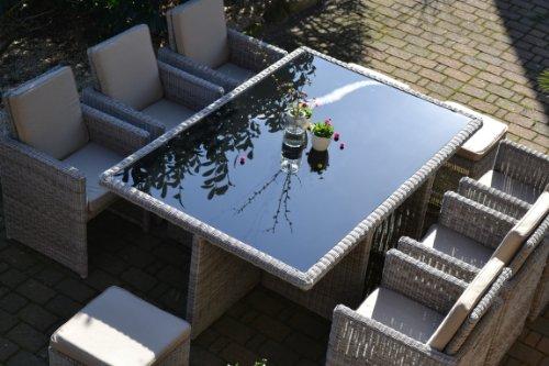 Polyrattan Rattan Geflecht Garten Sitzgruppe Toscana XL kaufen  Bild 1*